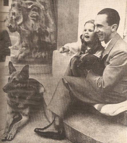 peppercyanide:  Cutest photo with Goebbels in it Aww, look at little H-something and the doggy   Beautiful little Helga :)