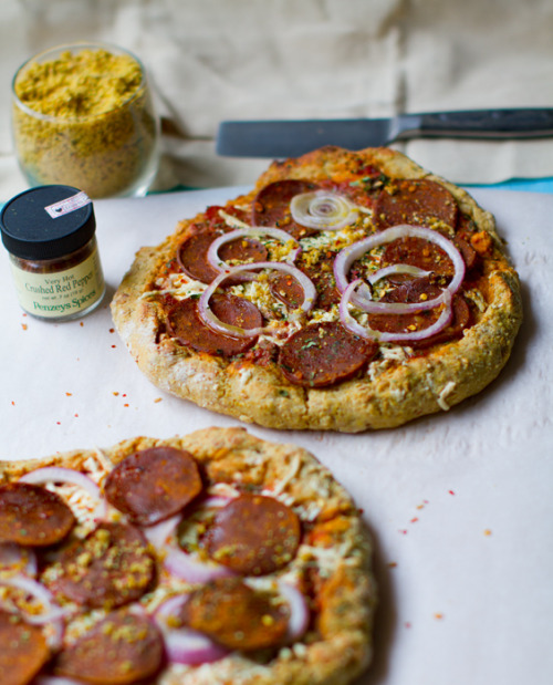 Vegan Pepperoni Pizza by Healthy. Happy. Life.
