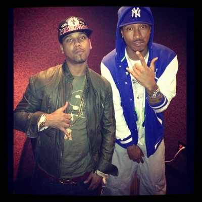 Juelz Santana in the studio with Future.