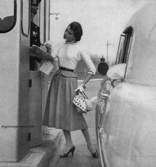 Mademoiselle April 1955 - photo by Ben Somoroff Conde Nast Archive