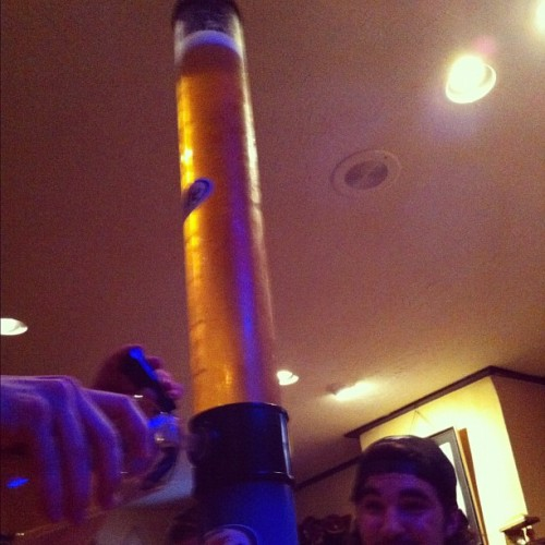 100oz of #beer #tower unfortunately it's miller time.  (Taken with instagram)