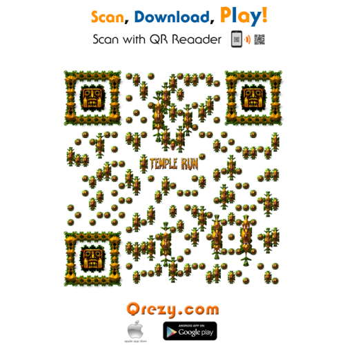 Our latest code for Temple Run! Special thanks to Imagini Studios. Scan and enjoy the game!