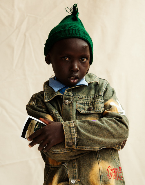 A portrait of a boy at Nyeri Provincial Hospital by Ryan Kalivretenos. This image was made during a trip with Operation Smile.