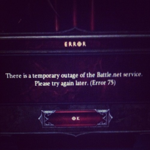 THE BANE OF MY EXISTENCE RIGHT NOW #fml #Diablo #D3 (Taken with instagram)