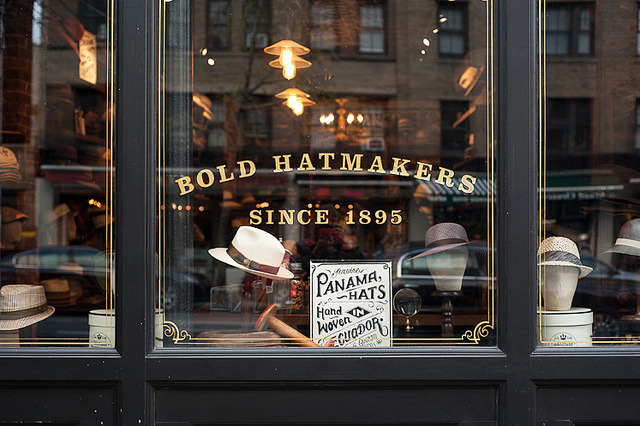 | ♕ |  Bold Hatmakers - NYC since 1895  | by © Hilda Grahnat  Oh Hilda, well traveled and back!I see, victoriasepe has hacked this.