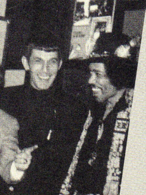mudwerks:  (via When Legends Gather #647)  Leonard Nimoy and Jimi Hendrix.