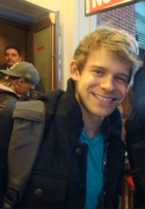 Andrew Keenan-Bolger at Stage Door of Newsies. He's so adorable!!
