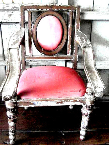 Vintage mirror chair