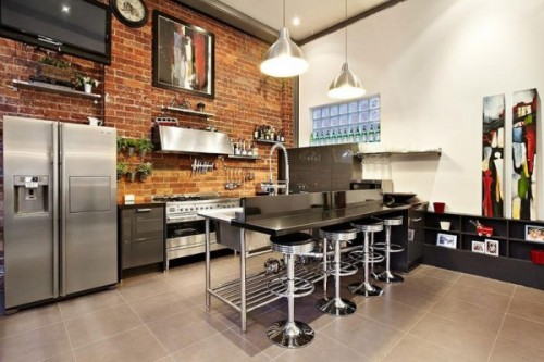 (via Superb Brick Warehouse Conversion in Abbotsford, Melbourne | Inthralld)