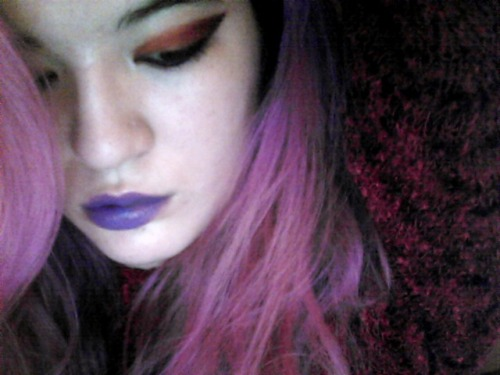 Playing with makeup whilst watching Inception mmmmmm Sugarpill. Subconsciously inspired by Stephanie — I just noticed!