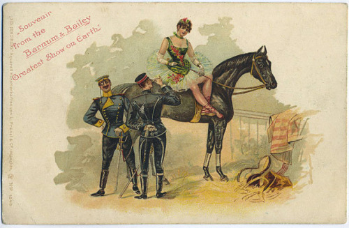 phantom-de-force:  Vintage postcard from Barnum and Bailey.