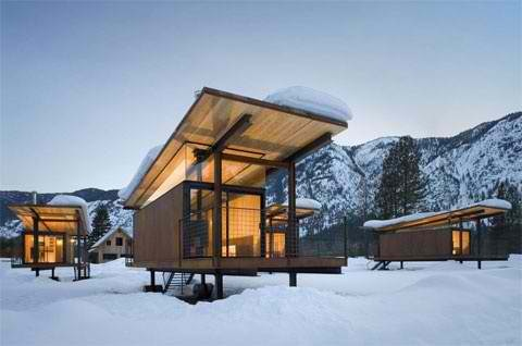 Love these prefab, minus the snow!
