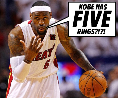 Yes, LeBron.  The goal is RINGS not MVP's.Anti LeBron and pro Kobe shirts at: www.duceTWO.com