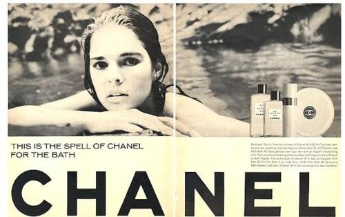 (via Styleyedolize / Vintage Chanel, Mariel Hemingway, Black and white Ad, Poolside, via Elizabeth Meigher, Quest)