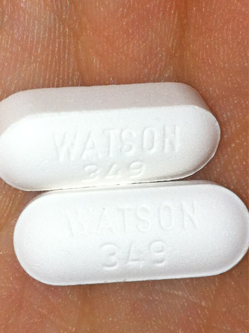 Watson 349, Acetaminophen and Hydrocodone Bitartrate. Schedule 3 controlled substance. Vicodin!