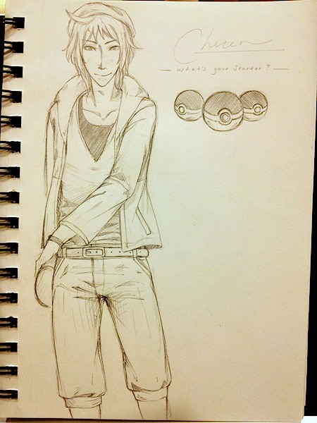 Guess who can't draw pants? Me. Cheren in Bianca's clothes—or what the men's version would look like? Had this idea. Not sure if it came out the way I wanted. Not going to lie. It kind of looks like Vash. Slightly.