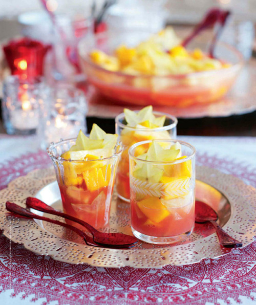 Tropical mango punch cups