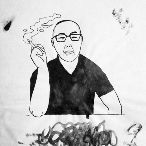 Smoking Chinaman #artproject #illustration #illustrationism #chairmanting #art #blackandwhite #superIndiaInk #drawing #dailydoodle #chineseman #chinaman #smoking #smokingchineseMan (Taken with instagram)