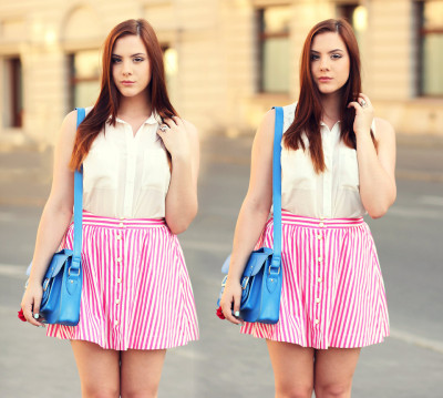 lookbookdotnu:  SWEET AS ICE CREAM (by ▲ Aleksandra Valentine Skorykow ▼)