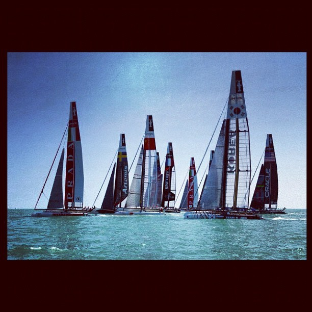 #americascup #world series practice #venice #italy coming to #sanfrancisco bay #california #usa in 2013 (Taken with instagram)