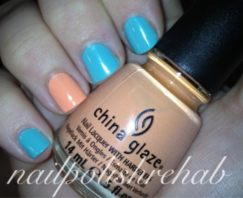 China Glaze - Peachy Keen & For Audrey