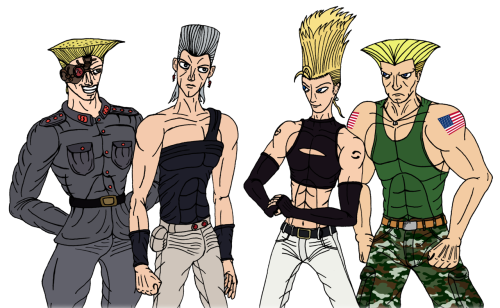 Request: Draw Polnareff, Benimaru, Stroheim and Guile. That's it!