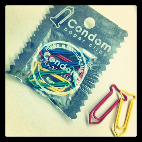 chloeeyuenn:  LOL 😂 #condom #paperclips #lol (Taken with instagram)