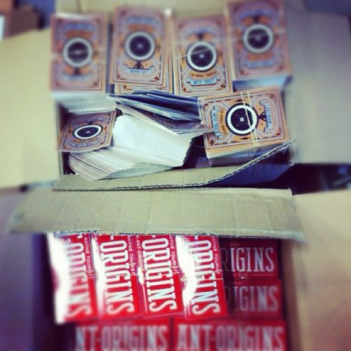 Another box of #stickers to promote #antorigins on the streets!  (Taken with instagram)