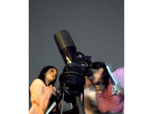 "Astronomy night: Attendees get inspiration, information Students, academics and families attended the Astronomy Night at NUST on Monday night to gaze at the sky. However, Brig. Mubashirul Haq Abbasi's preceding lecture on astronomy proved more educational and interesting for the attendees as the two telescopes — Meade ETX-125 and Orion EON — were a bit of let down for some as the magnification did not meet expectations. Electrical engineer Adil and his family said that they had recently seen a telescope in Lahore that showed eruptions on the sun's surface in much higher detail, and were underwhelmed by what was visible through the telescopes at NUST. However, Adil commended the university's effort, ""It is a good excuse to do something educational and fun with the family."" (Source) Follow us on Facebook 