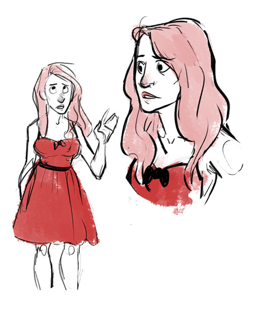 Some Rachel Berry inspired sketches.