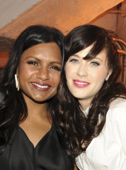 Mindy Kaling and Zooey Deschanel