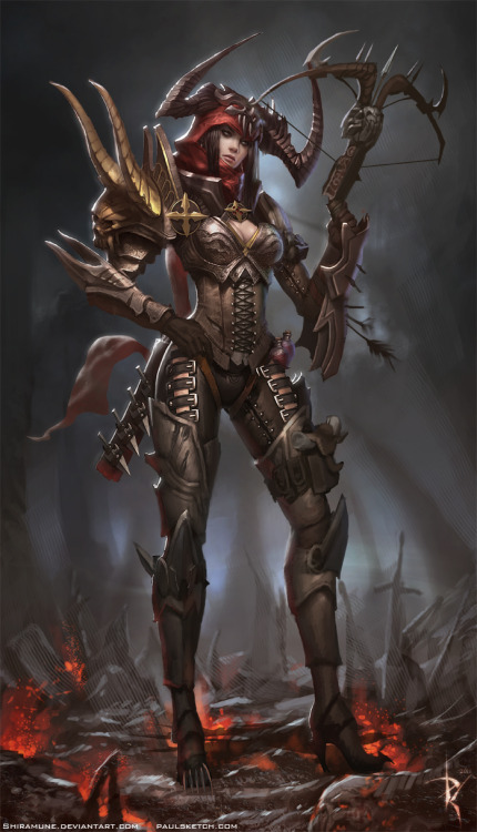 Demon Hunter Diablo 3 by *Shiramune The class I would be playing as if I could log into the damn game.