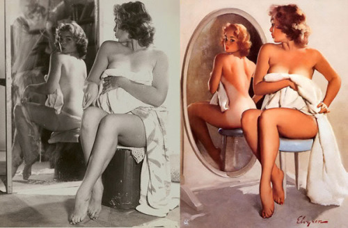 Pin Up Girls: Before and After  Gil Elvgren