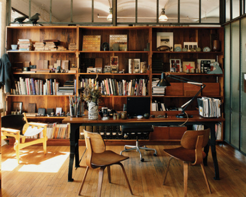 workspaces:  A home office designed by Roman & Williams | via apartmenttherapy