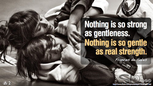 Nothing is so strong as gentleness.Nothing is so gentle as real strength.— Frances de Sales