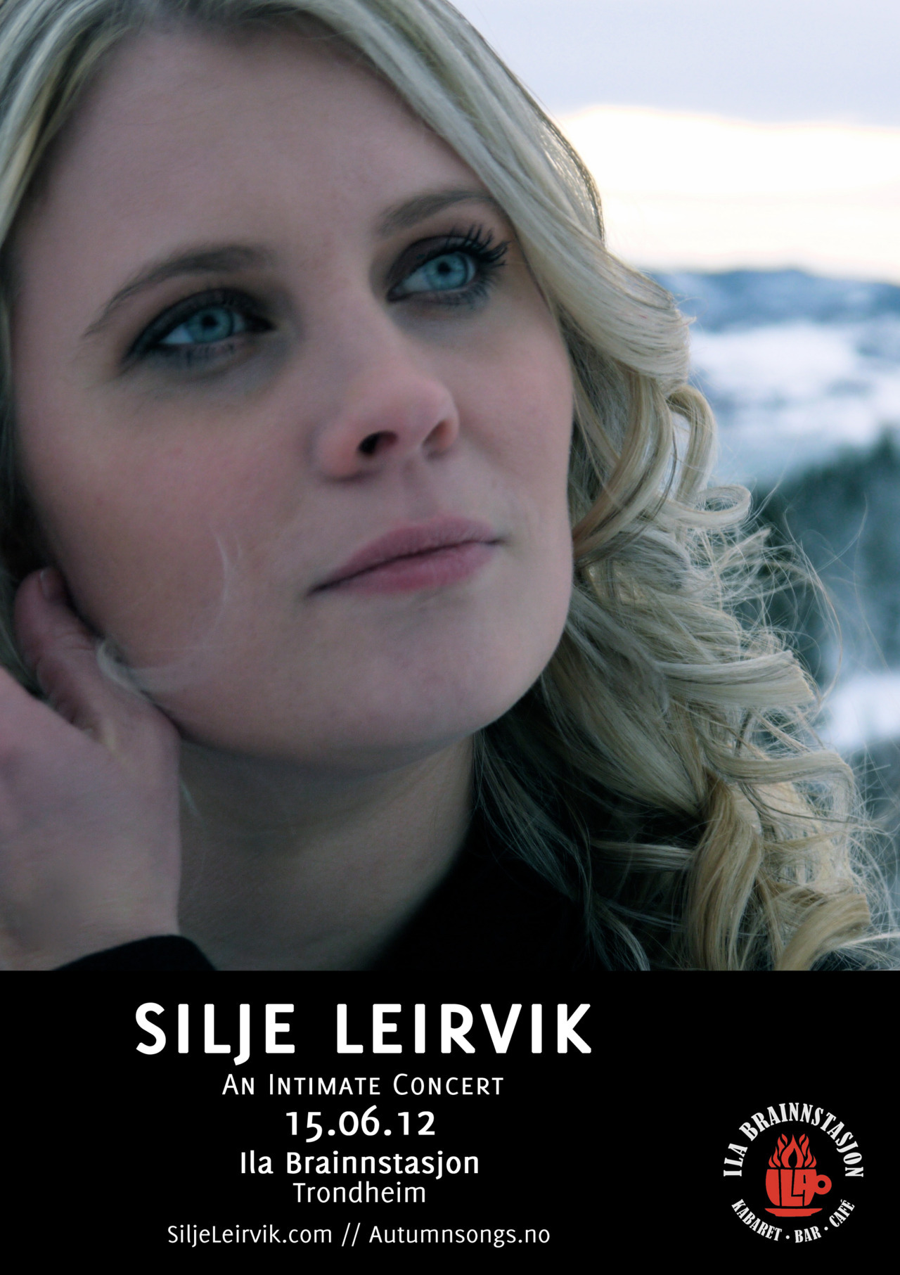 The poster for Silje's forthcoming concert in Trondheim.