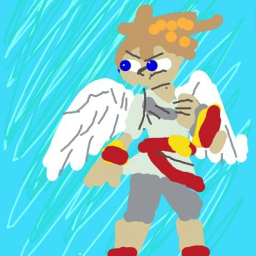 It's the uprising! #drawsomething #pit #kidicarus #kidicarusuprising #angel #3ds #nes #ssbb #smashbros #brawl #ssb #supersmashbros (Taken with instagram)