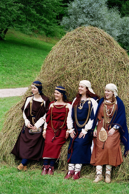 Archeological costumes 10-12 Century ,Latvia