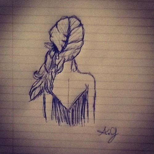 I'm a terrible artist HAHA but I drew this this morning (: (Taken with instagram) What do you think?