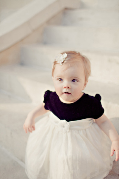 A little princess at an Austin Wedding at the Mansion at Judges' Hill, photo by Ivy Weddings (via Style Me Pretty | Gallery | Picture | #560950)