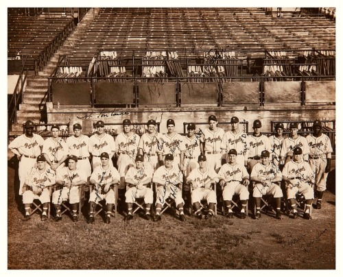 1946 Montreal Royals TeamFeaturing a 27 year old Jackie Robinson during his first and only minor league season before he broke into the major leagues with the Brooklyn Dodgers the following year.
