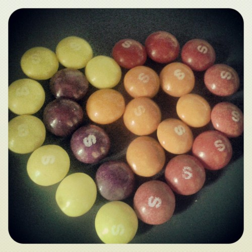My heart of skittles for you <3