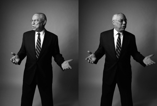 General Colin Powell photographed for Newsweek in Alexandria, VA on May 8th 2012. Unpublished.