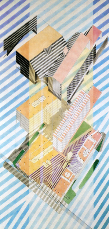 The Architectural Review has a gorgeous new drawings Tumblr. I am loving the 80s. architectural-review:  Helmut Jahn (1980)