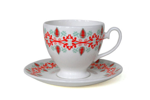 Sprig cup and saucer by Donna Wilson available from Sheridan Coakley
