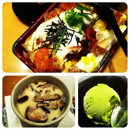 My fatty Japanese dinner.. (Taken with instagram)