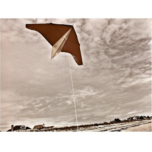 Flying a #kite on the #beach in #Maine. (Taken with instagram)