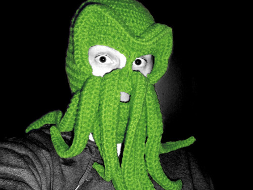 Who doesn't need a Cthulhu Knitted Ski Mask?