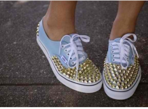 Sneaks are so much better with studs.