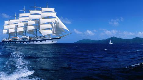 St. Lucia sailboat blue